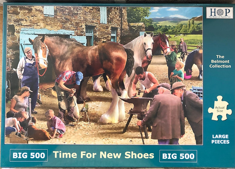 H O P ..Jigsaw puzzle..BIG500...Time for new shoes