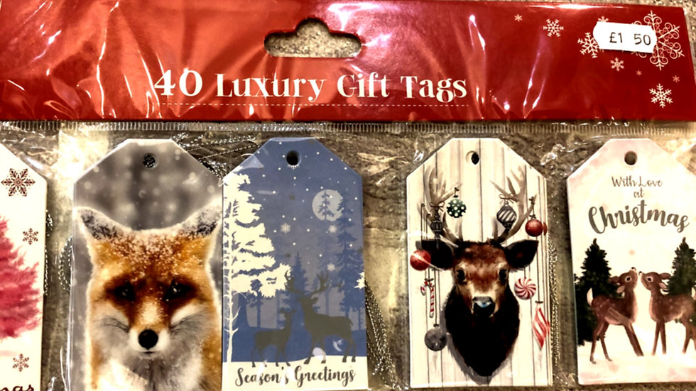 Christmas gift tags Woodland