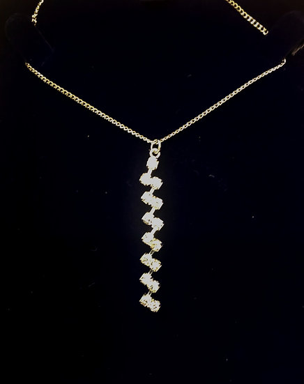 Diamante bar necklace - INEC3899