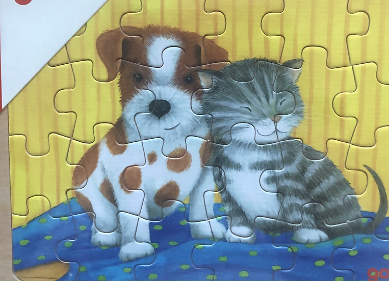 Tray puzzle Puppy and kitten 24 piece