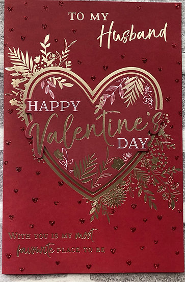 Valentines Card - Husband - Red heart