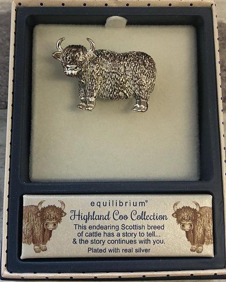 Highland Cow Brooch