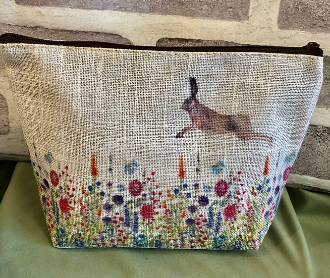 Flower and Hare make-up bag