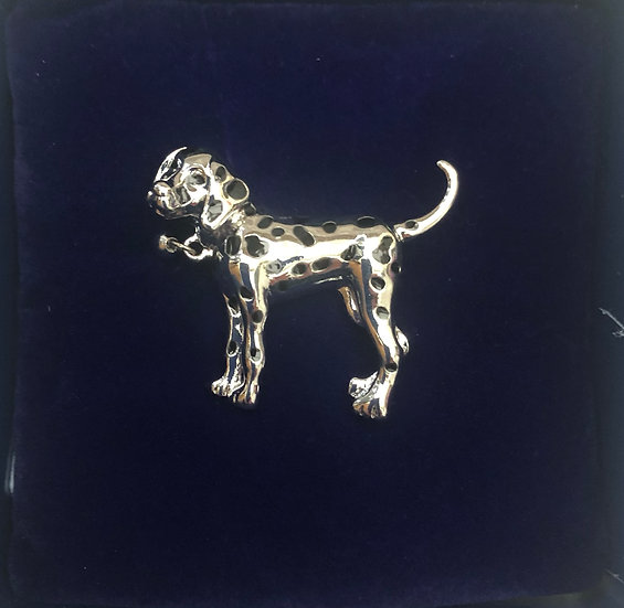 Dalmatian dog brooch IBRO1043