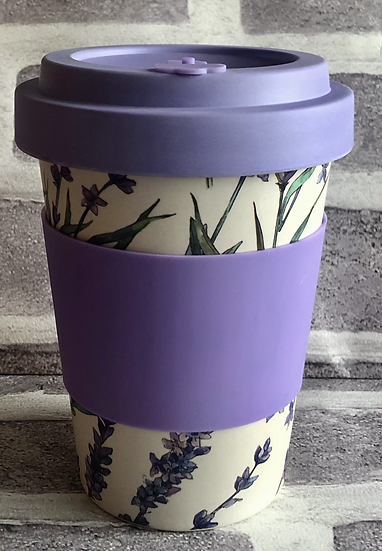 Lavender Fields Bamboo Travel Mug