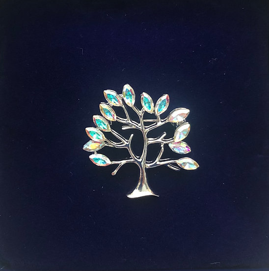 Sparkling Tree Brooch IBRO0976
