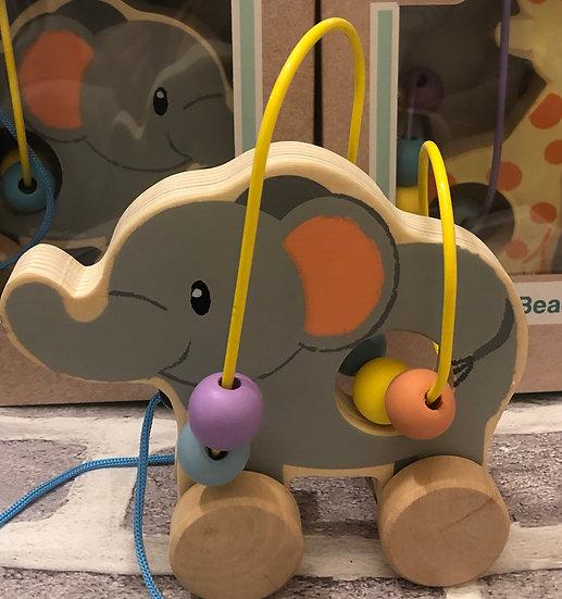 Elephant bead coaster