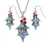 Necklace/earrings set Paua shell