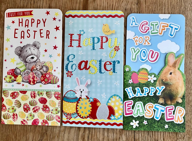 3 Easter Money gift wallets - A
