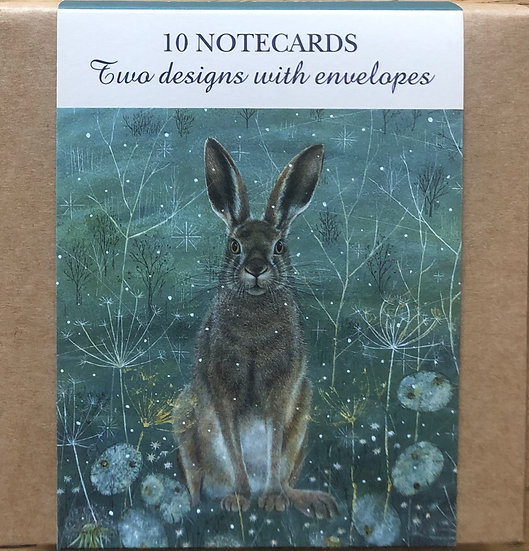 Notecard wallet    Enchanted Hare and Owl