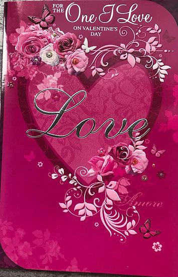 Valentines card - One I love - Female