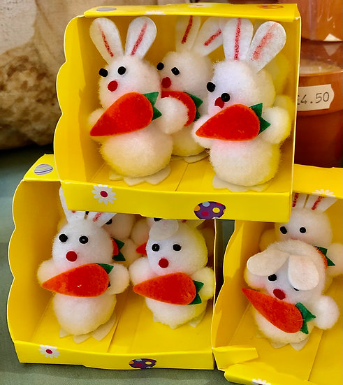 Easter bunny cake toppers.