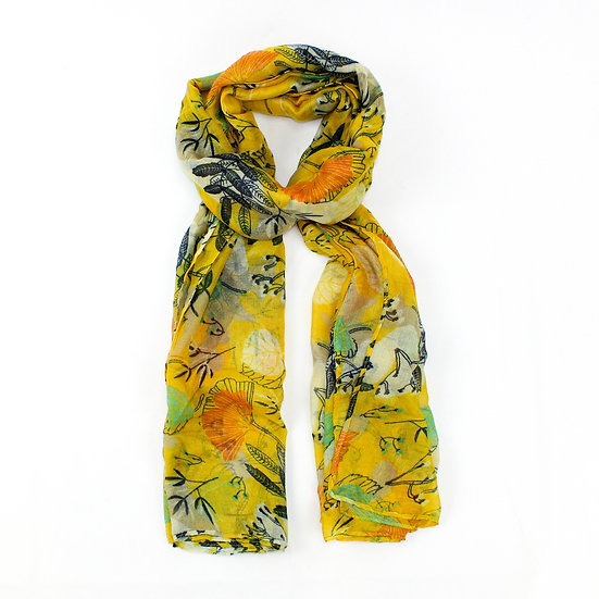 Summer scarf - Clementine yellow forest - SC4753 C05
