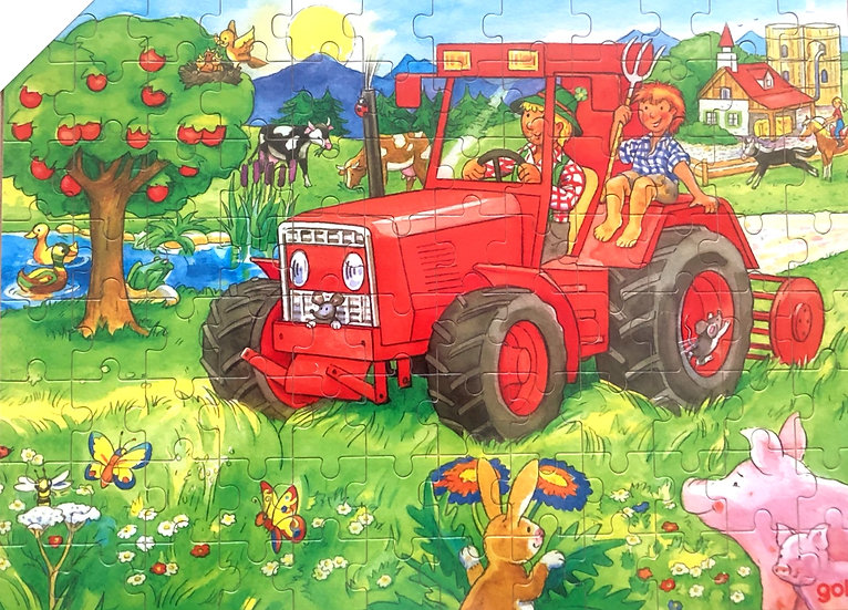 96 pce-Jigsaw puzzle-Tractor