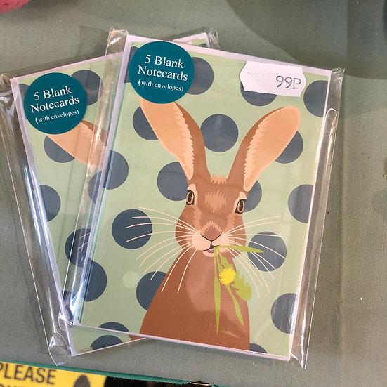 Mini Notecards - Hare
