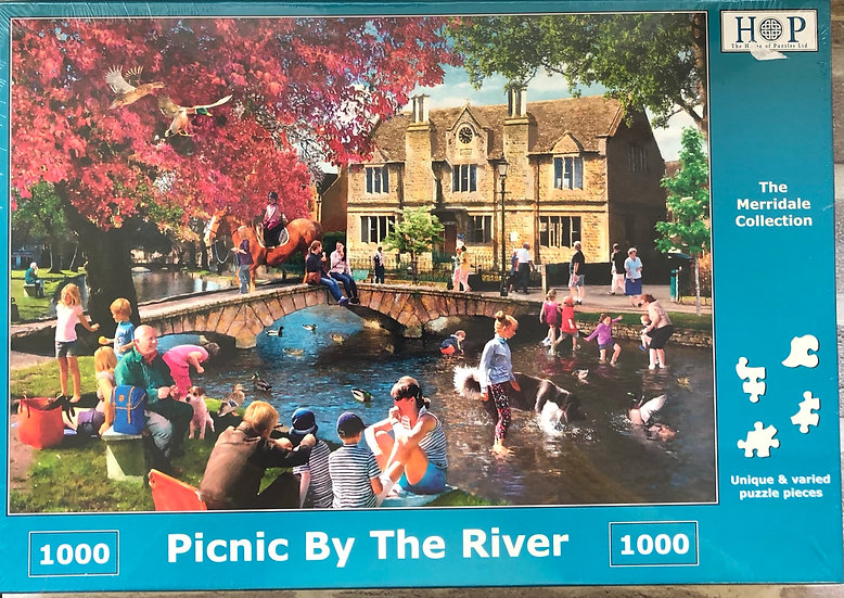 H O P Jigsaw puzzle...1000 piece....Picnic by the river