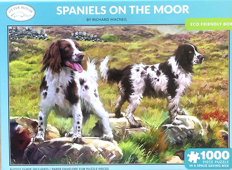 Jigsaw puzzle 1000 pce Spaniels on the moor