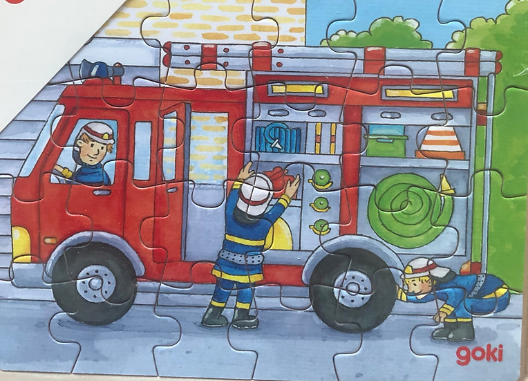 Tray puzzle Fire engine 24 piece