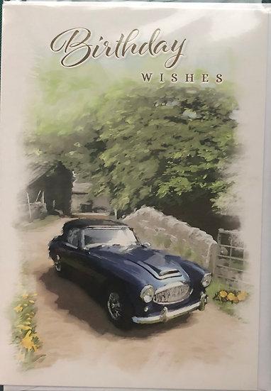 Male Birthday Card - Car