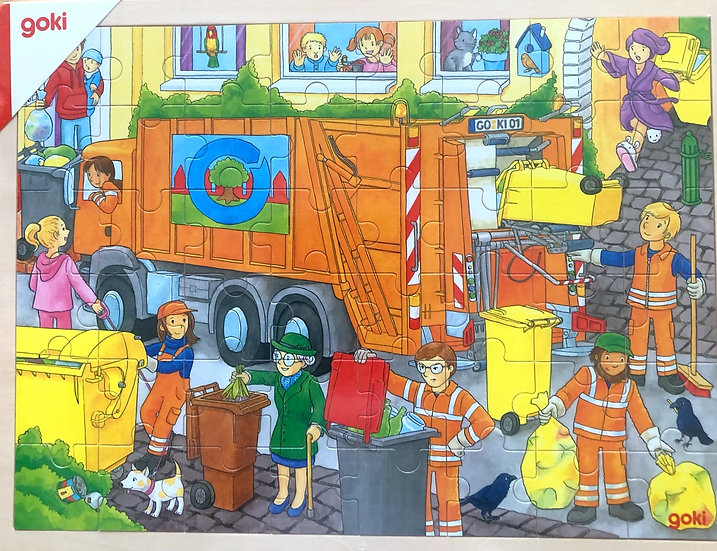 Jigsaw puzzle Garbage truck