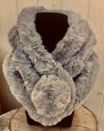 Faux fur luxury Tippet scarf