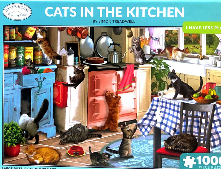 Jigsaw puzzle 1000 pce Cats in the kitchen