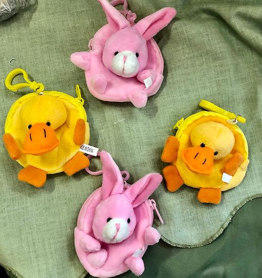 Cute purse with clip Duck/Rabbit