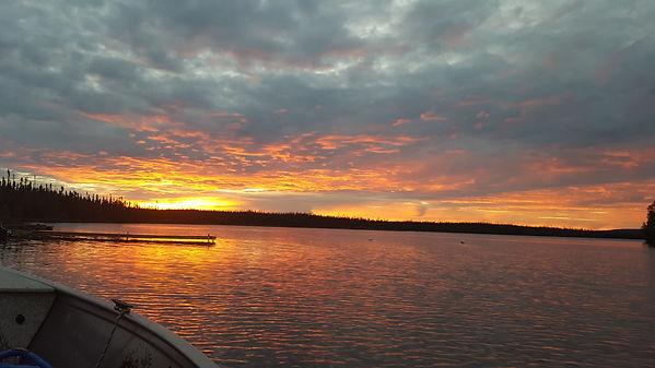 Sunset at Reindeer lake.JPG