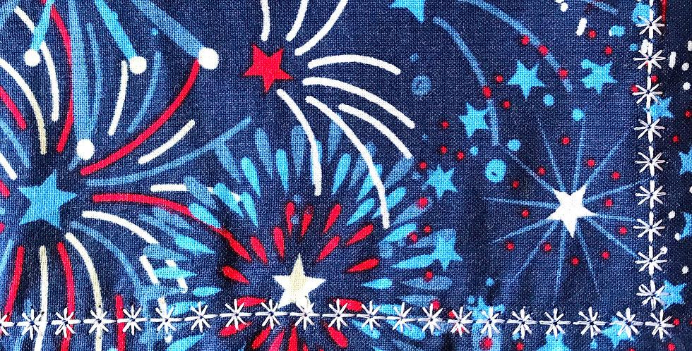 Patriotic Fireworks Handkerchief