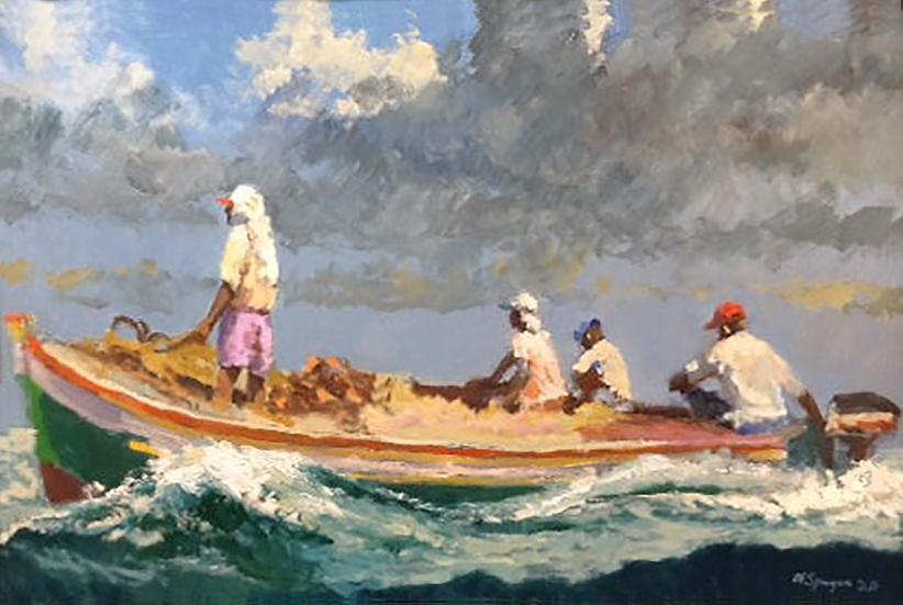 Following Seas, 24 x 36, Oil