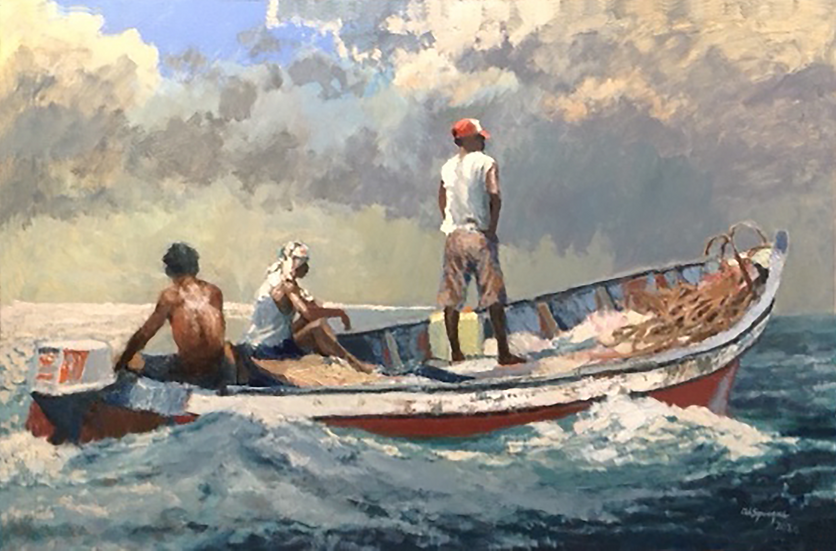 Under Way, 40 x 60, Oil