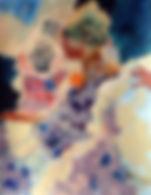 Yellow Pom Pom Acrylic 11 x 14.JPG