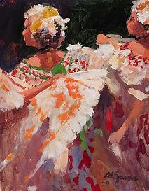 Heat of the Dance, 11 x 14, Acrylic, 202