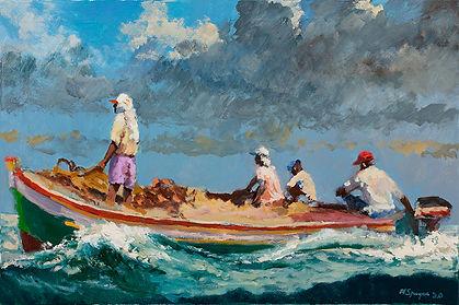 Following Seas 24 x 36, Oil, 2020.jpg