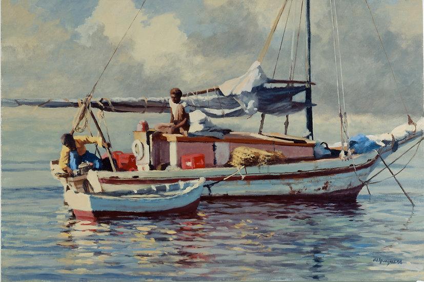 Conch Fishing in the Atlantic