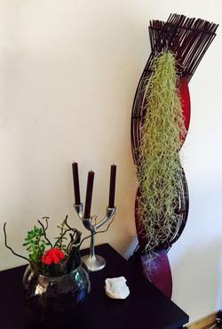 Пример декора испанским мхом