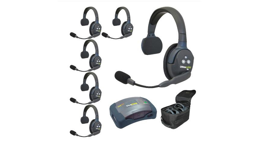 Eartec UltraLITE 6-Person Hands-Free Headset System