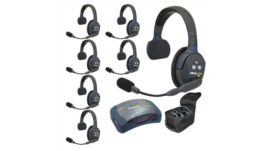 Eartec UltraLITE 7-Person Hands-Free Headset System