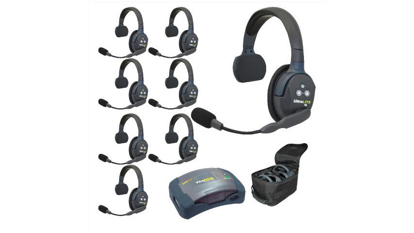 Eartec UltraLITE 8-Person Hands-Free Headset System