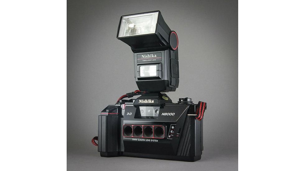 Nishika N8000 Quadrascopic Stereo 3D Lenticular Camera