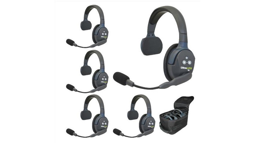 Eartec UltraLITE 5-Person Hands-Free Headset System