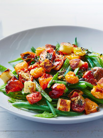 Detox  Green beans chicken oven dried tomatoes and basil
