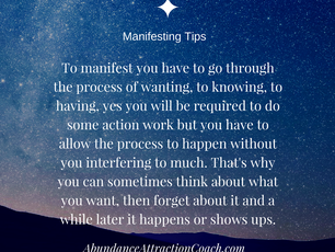 Manifesting Tip of the Month: Let it go!