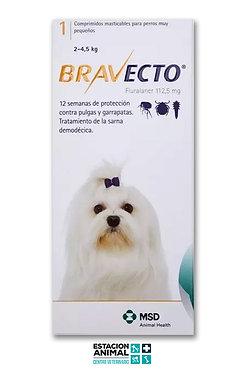 Bravecto Perros (2 a 4.5 Kg)