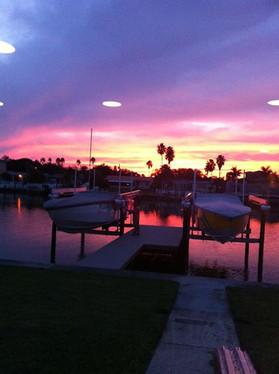 Beautiful sunset in our backyard!  _)..j