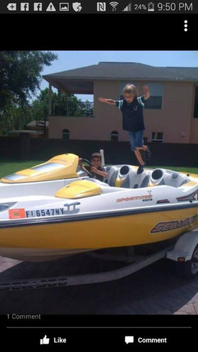 I miss my boat!!  Lol....Caiden and Ashe