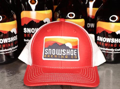 Red Snowshoe Snapback Hat