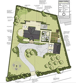 Large country garden design plan
