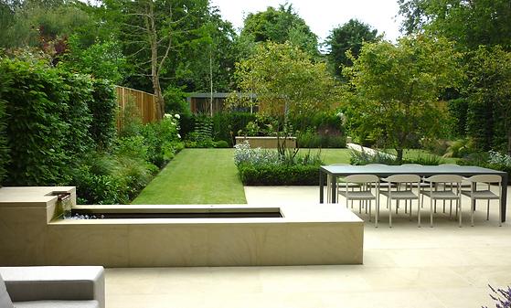 Contemporary family garden, Putney
