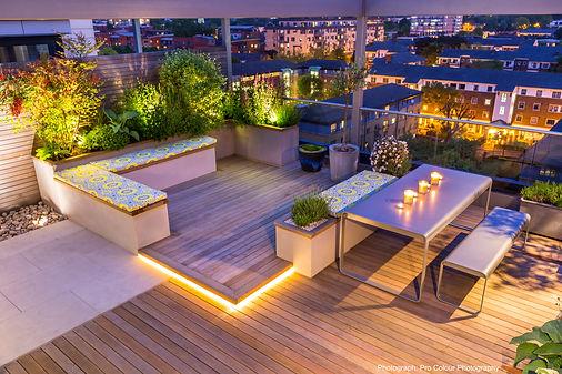 Award-winning roof terrace, King's Cross, London